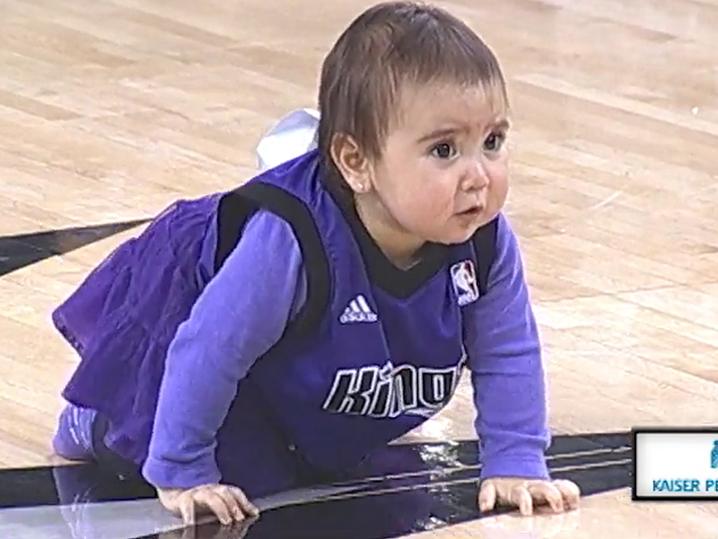 Sacramento Kings' Baby Race: Baby Loses by Taking a Nap