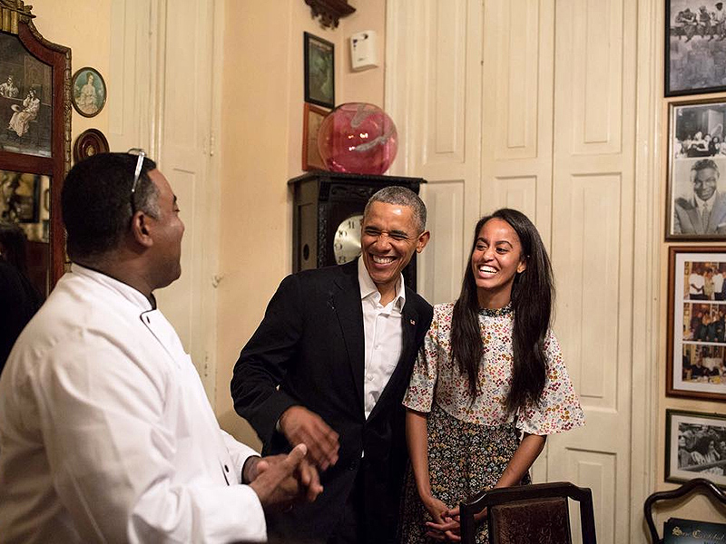 Malia Works as Translator For President Obama During Cuba Trip