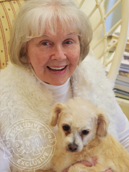 Doris Day Poses with Her Adorable Dog Squirrely is 92