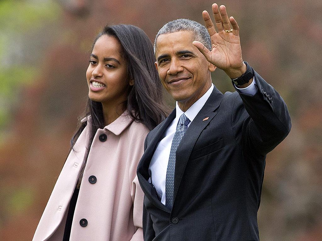 Jet Setter! Malia Obama Accompanies Dad on Cross-Country Trip