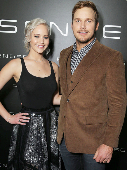 Chris Pratt and Jennifer Lawrence Drank Wine Before Filming Sex Scene
