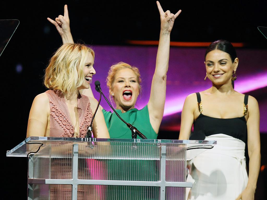 Bad Moms: Christina Applegate, Kristen Bell and Mila Kunis at CinemaCon