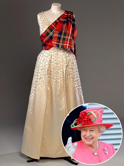 Queen Elizabeth Tartan Fashion Exhibit in Scotland