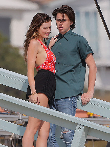 Bella Thorne Locks Lips with Nash Grier on Set of New Movie