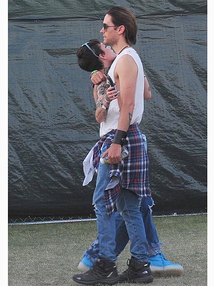 Jared Leto with Halsey at Coachella: Photos