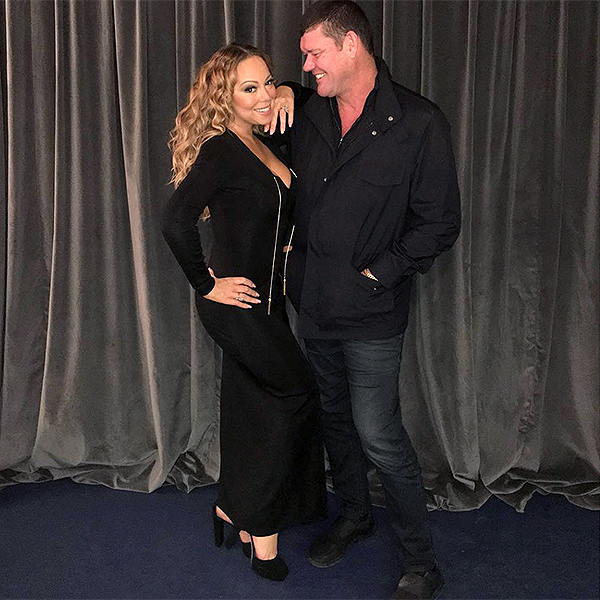 Mariah Carey Gets Surprise Visit From Fiance James Packer While on Tour