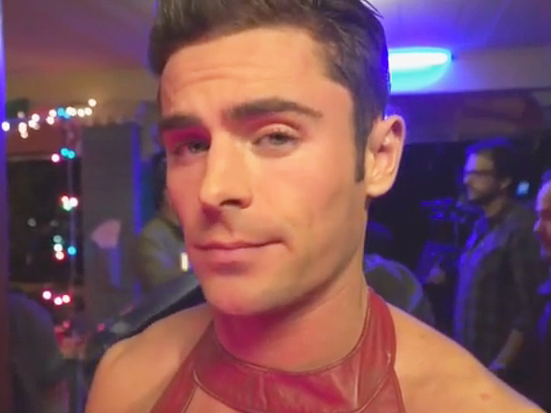 Zac Efron Sports Booties and Little Red Dress in Neighbors 2 Teaser