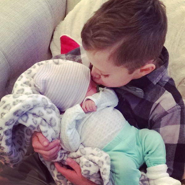 Bristol Palin Shares Photo of Son Tripp Kissing Baby Sister Sailor Grace