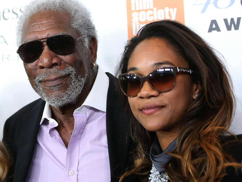 Morgan Freeman Brings His Granddaughter to Chaplin Awards Gala