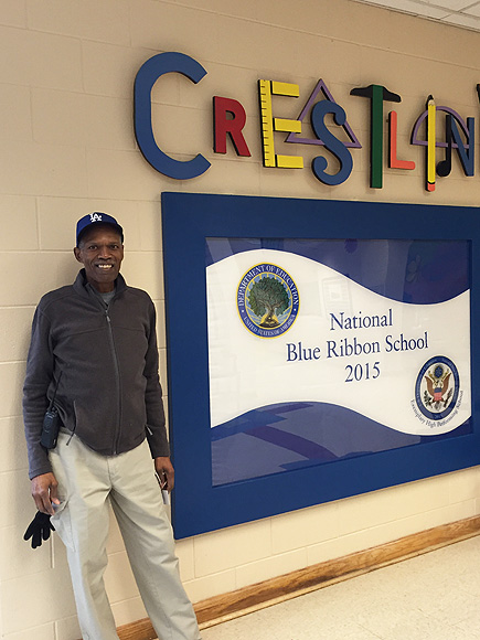 Janitor of the Year Jerome Lewis Honored by Students