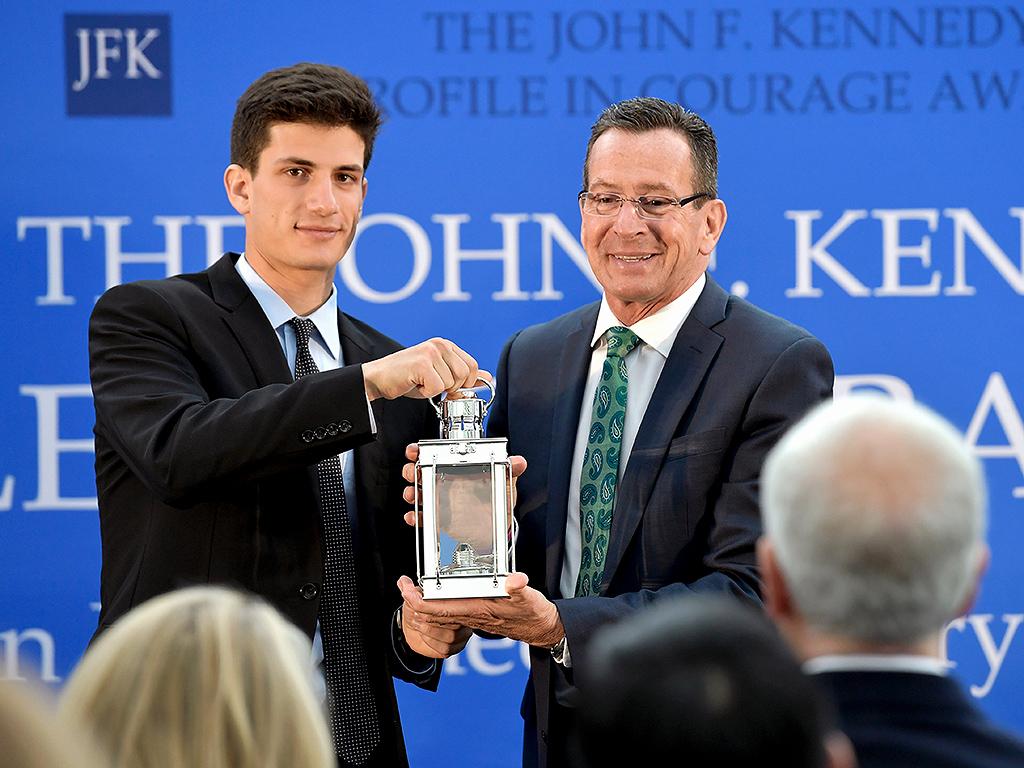 JFK's Grandson Jack Schlossberg Presents Profile In Courage Award