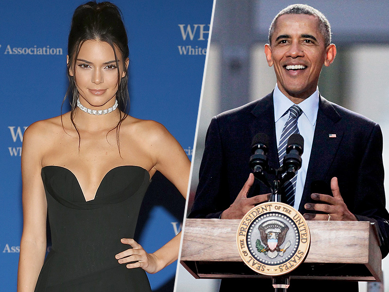 Kendall Jenner Meets President Obama at the White House Correspondents' Dinner