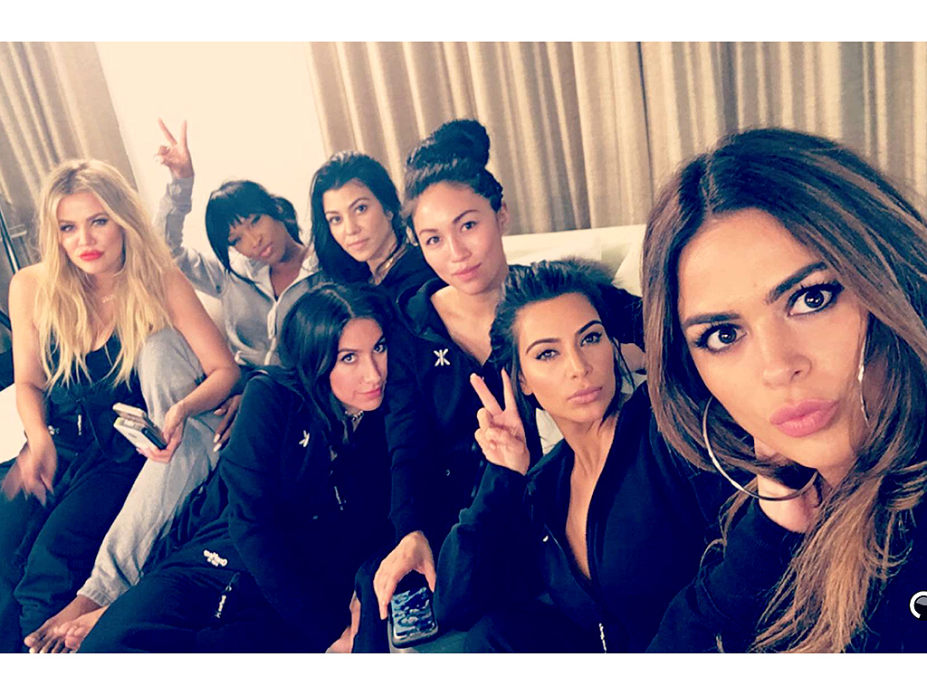 Kardashian Sisters Have a Girls' Night In with Penelope, North West, More