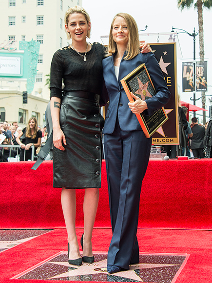 Jodie Foster Honored by Kristen Stewart at Walk of Fame Ceremony