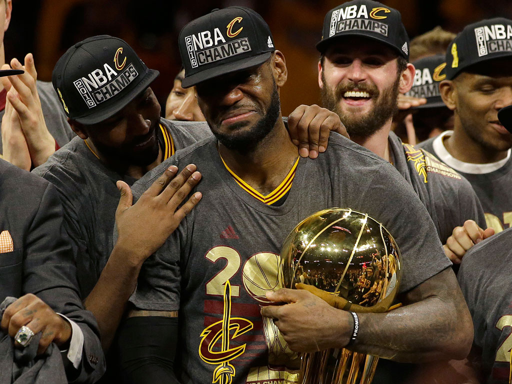 NBA Finals: LeBron James Delivers Cleveland First Championship in 52 Years : People.com