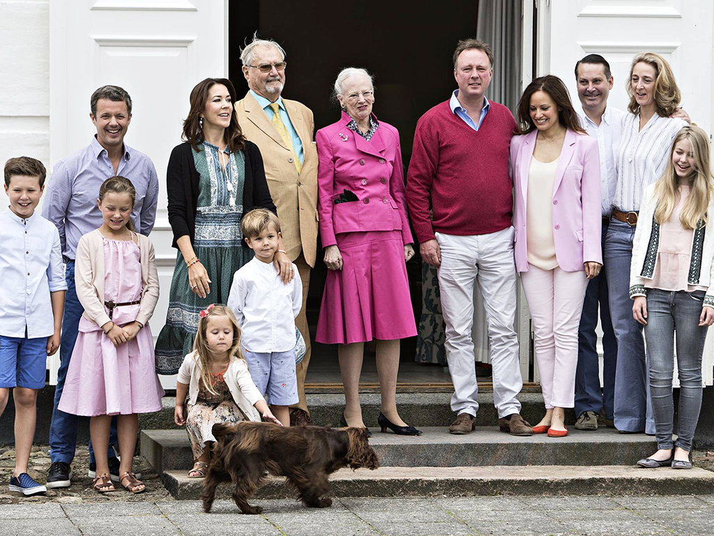 danish royal family kicks off summer vacation frolicking