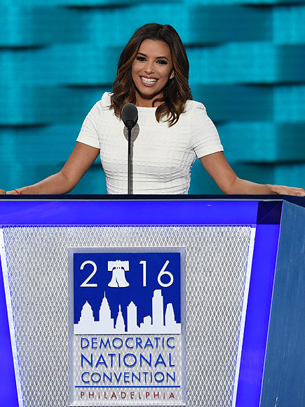 Eva Longoria Takes Aim at Trump During DNC Speech