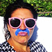 Woman Wears a Colored 'Zinc Mustache' to Call Attention to Little-Known Skin Condition Melasma