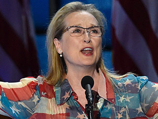 Meryl Streep Gives Powerful Speech as Hillary Clinton Trumps Donald in Convention Star Power