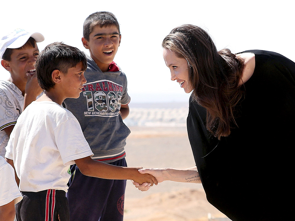 angelina jolies speech on the issue of syrian refugees With nearly 55 million war-weary syrian refugees sheltering in jordan, lebanon, turkey and iraq, angelina jolie, the united nations refugee agency's envoy, visited.