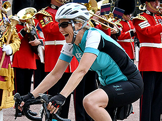 The Countess Did It! Sophie Wessex Arrives at Buckingham Palace after 450-mile Bike Ride