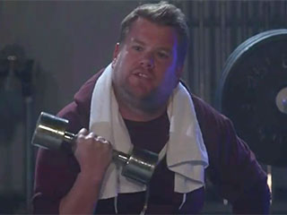 Here's What Happened when James Corden Worked Out at Kanye West's Gym with Teyana Taylor