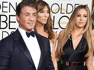 Golden Globes 2016 Sylvester Stallone S Daughters Stun On