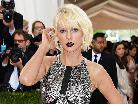 Taylor Swift Sizzles in Sexy Silver Mini at Met Gala: See It from Every Skin-Baring Angle!