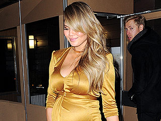 Chrissy Teigen's Grammys Dress Is 'Definitely Going to Embrace the Bump'