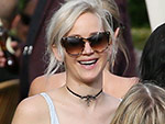 Jennifer Lawrence Just Recycled an Entire Outfit for Her Best Friend's Wedding (Choker and All!)