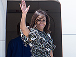 Michelle Obama and Her Daughters Leave Spain in Style After a Successful Overseas Trip