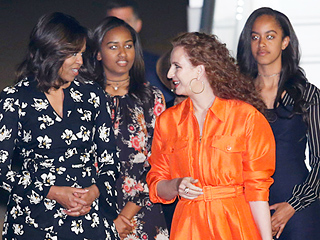 First Lady Makes Stylish Landing in Morocco with Equally Fashionable Daughters Malia and Sasha