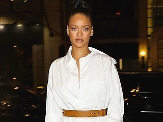 Is Rihanna Doing the Stride of Pride in Drake's Tuxedo Shirt? An Investigation