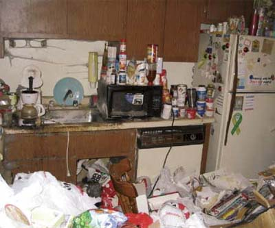 disgustingly messy kitchen