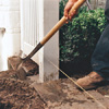 man with shovel in the dirt
