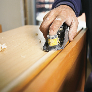block plane for level kitchen cabinet install
