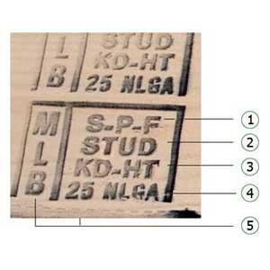 stamp on framing lumber