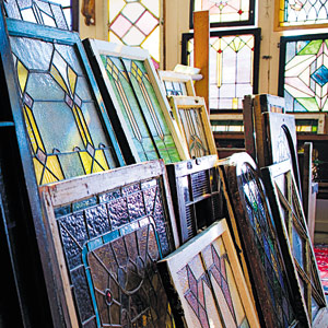 This is a photo of stained glass windows.