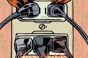 Angry Plug Illustration