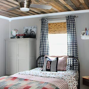 after of budget redo for boy's rustic style bedroom