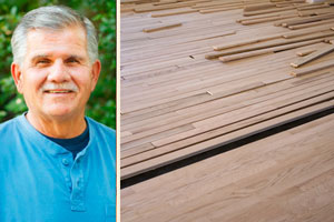 Tom Silva and a floating engineered-wood floor