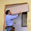 Install drywall arch extenders
