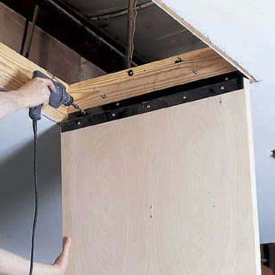 Mount The Door Panel How To Install Pull Down Attic