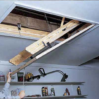 Calibrate the tension to ensure smooth, safe glide of attic stiars