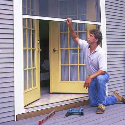 Test the screen door how to install a retractable screen for Rollaway screen door parts