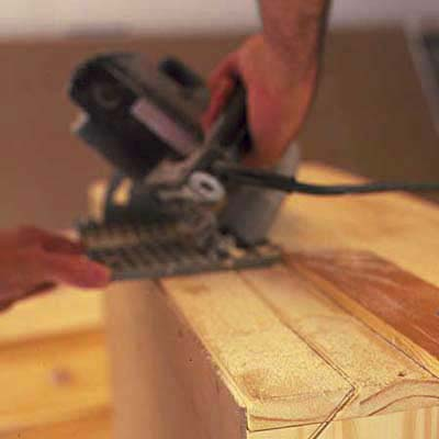 Trim dresser to fit with circular saw