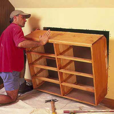 Build Dresser Into Wall