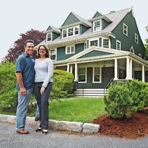 Newton Shingle-style homeowners Paul Friedberg and Madeline Krauss