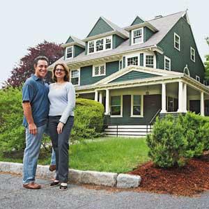 Newton Shingle-style homeowners Paul Friedberg and Madeline Krauss
