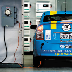 generator and electrical settings when a car is parked in a garage